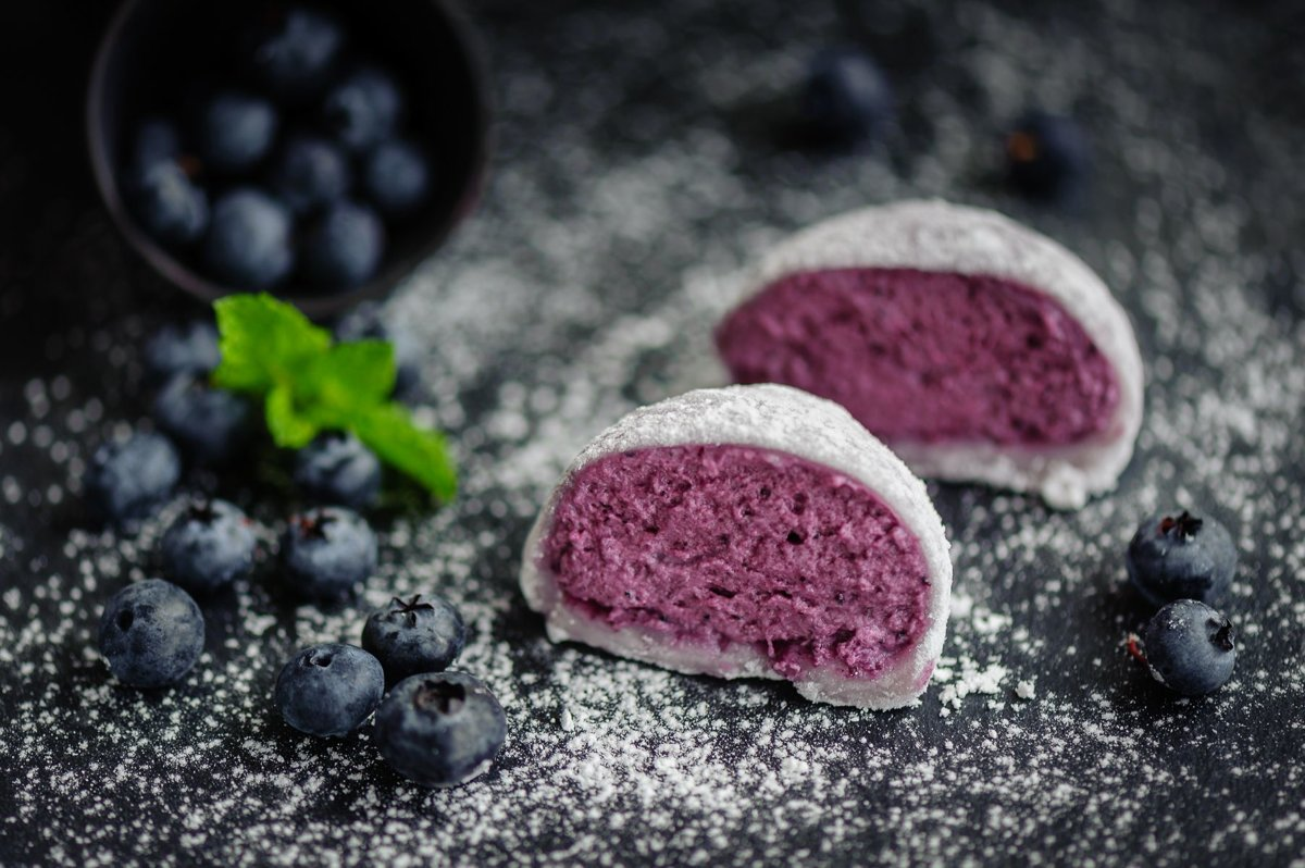 Mochi with Blueberry Parfait