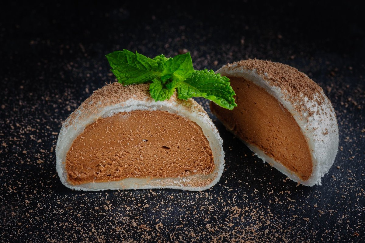 Mochi with Chocolate Ice Cream